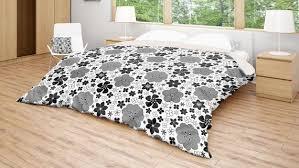 fl duvet cover black white bedding