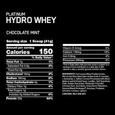 Optimum Nutrition Comparison Chart Platinum Hydrowhey Optimum Nutrition