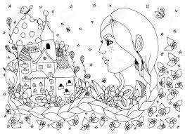 Vettoriale Illustrazione Vettoriale Donna Ragazza Con I Fiori