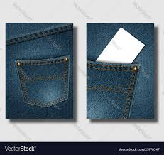 Pocket Jeans Design Advertising Poster Design Template With Blue Denim