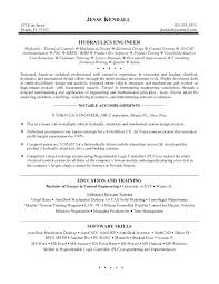 Design Engineer Resume Example Mechanical Design Engineer Resume