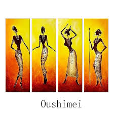 hand painted picture y india r paintings on canvas oil painting handmade wall art african black women portrait pictures in painting calligraphy