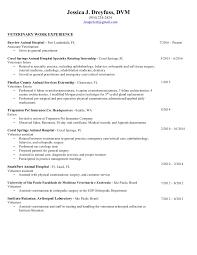 jessica dreyfuss vet resume 3316 - Veterinarian Resumes
