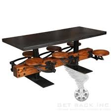 industrial wood furniture. swing out 6seat dining table cast iron u0026 wood with metal top industrial furniture t