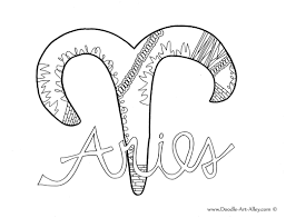 Not sure what your zodiac sign is? Zodiac Coloring Pages Doodle Art Alley