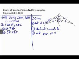 Triangle Proofs Triangle Proof Example 7