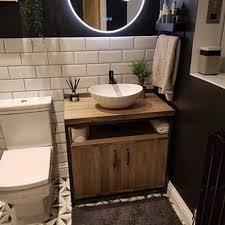 industrial bathroom vanity unit