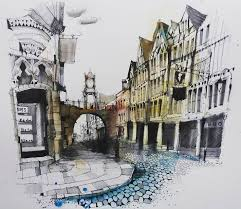 fennelly art ianfennelly в insram chester eastgate aquarell art painting watercolor watercolour sketch paint drawing sketching sketchbook