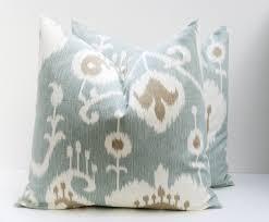 Etsy Throw Pillows Throw Pillow Covers 18x18 Spa Blue Pillow Blue Green Pillow