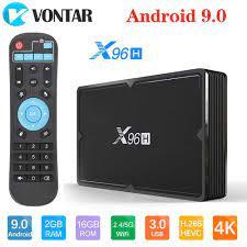 X96H Android 9.0 TV Box 4GB 64GB H603 Quad Core 6K 2.4G 5G Wifi Kép USB3.0  BT4.1 Google Cầu Thủ Youtube Set Top Box X96 H 4G 32G|Set-top Boxes