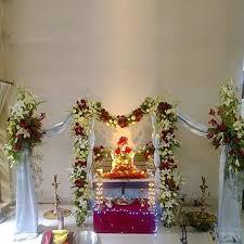 orchid flower decoration for ganpati at home fresh u0026