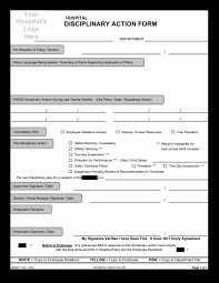 Form Microsoft Word 034 Disciplinary Action Form Template Microsoft Word Best Of