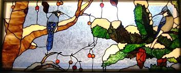 stained glass stain glass birds the windows spectrum stained studio blue jays designs
