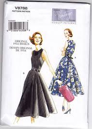 Retro Dress Patterns Unique V48 48s Vintage Vogue Sewing Pattern Back Wrap Dress Pattern