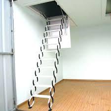 metal attic ladder minimalist industrial wood