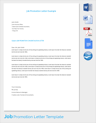 Congratulations Letter On New Job Sample Promotion Letter 15 Free Samples Examples Format