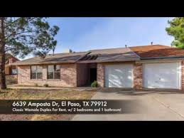 Westside Duplex For Rent 6639 Amposta Dr, El Paso, TX 79912
