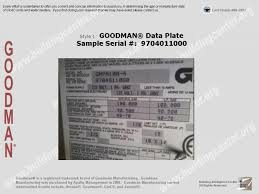 goodman ac unit. goodman data plate ac unit