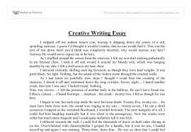 example of creative writing essay com example of creative writing essay 4 sample essays
