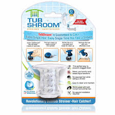 tubshroom revolutionary hair catcher drain protector for tub drains no more clogs clear com