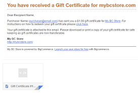 Gift Certificates Bigcommerce Support