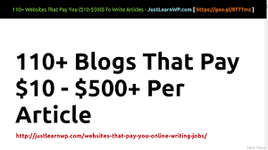 websites that pay per article online writing jobs  111 websites that pay 10 500 per article online writing jobs