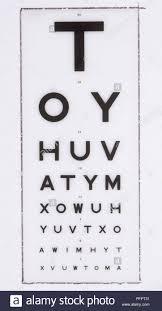 Vintage Eye Chart Light Box Snellens Eye Test Chart Stock Photo 216246101 Alamy