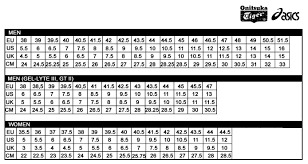 Asics Gel Lyte Size Chart Www Irishpostoffices Org