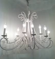vintage style white finished iron cool chandeliers for traditional interior ceiling decorating designs