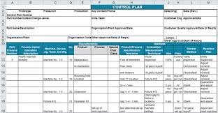 Excel 2010 Templates Control Plan Template In Excel To Minimize Variation