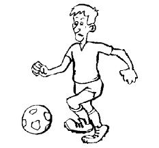 Disegno Di Giocatore Di Calcio Da Colorare Acolorecom