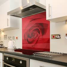 Kitchen Glass Splashback Cappuccino Floral Black Flower Glass Splashback Kitchen