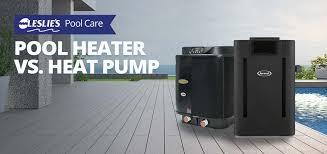 swimming pool heater vs heat pump