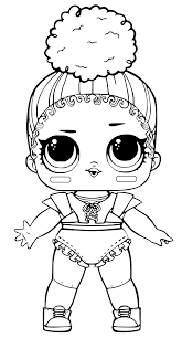 Coloring Pages Of Lol Surprise Dolls Pieces Black And White