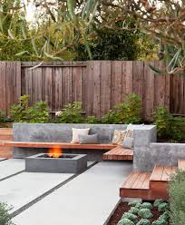 modern concrete patio furniture. Concrete Patio Planters Fresh Of Modern Fence Design With Floating Bench Outdoor Furniture