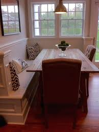 breakfast nook bench table and set with storage
