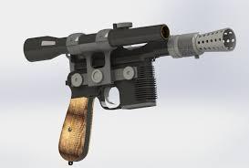 dl 44 han solo blaster pistol from the star wars 3d model in other 3dexport