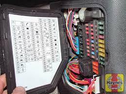 mini mini (2006 2013) 1 6 fusebox and diagnostic socket mini cooper fuse box layout illustration of step the main fusebox is located behind the driver's side kick panel