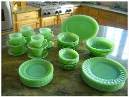 Fire King by Anchor Hocking jadite dishes in shell pattern. I love Jadeite!