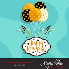 free new year frame clipart