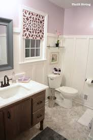 bathroom makeover contest. Exellent Bathroom Pretty Lavender Bathroom Makeovers  Behr Mulberry Stain Wall Paint  Thrift Diving For Makeover Contest