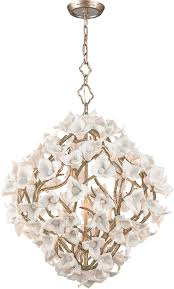 corbett 211 46 lily contemporary enchanted silver leaf medium pendant light fixture loading zoom