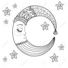 子供の設計かわいいイラストの月を落書き
