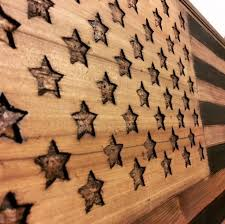 picture of 2x4 american flag wall art coffee table