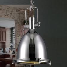 industrial style pendant lighting. Industrial Style 1 Light Large Pendant In Polished Nickel Pertaining To Lights Ideas 8 Lighting S
