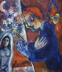 artist at easel marc chagall 1965