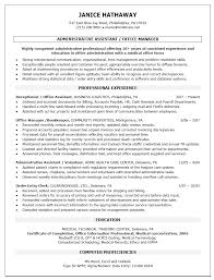 Office Administrator Resumes Sample Job And Resume Template