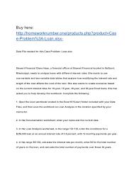 Case Problem Loan Xisx