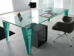 glass desk table contemporary modern top office23 office
