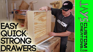 How To Make Drawers Strong Quick Drawer Construction 126 Youtube
